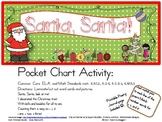 Santa, Santa Pocket Chart Poetry Set with Printable Poem to Color