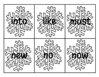 Santa, Santa & Snowman, Snowman {Sight Word Games}