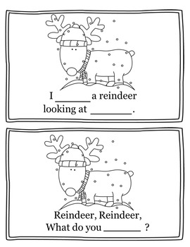 Santa, Santa What Do You See? Christmas Activity Book Emergent Reader