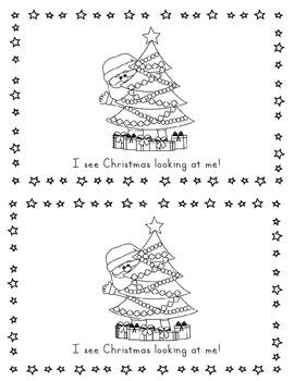 Santa Santa What Do You See Printable Book