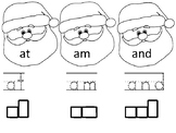 Santa Say, Trace and Write Kindergarten Sight Words
