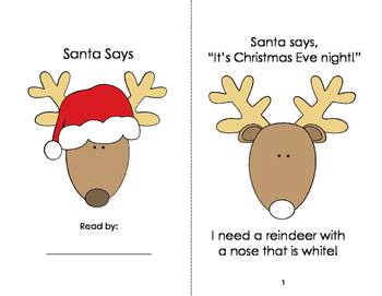 Santa Says: Guided Reading Book