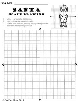Santa Scale Drawing