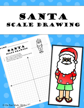 Santa Scale Drawing