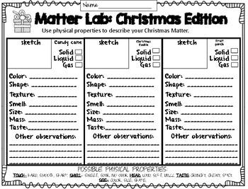 Santa Science Stations (Properties of Matter)