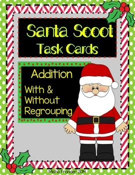 Christmas Scoot Addition With & Without Regrouping