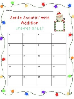Santa Scoot - Two Digit Addition