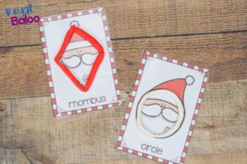 Santa Shape Activities Set