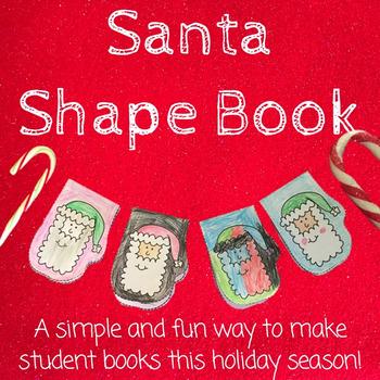 Seasonal Mini-Book: Santa Mitten Shaped Books