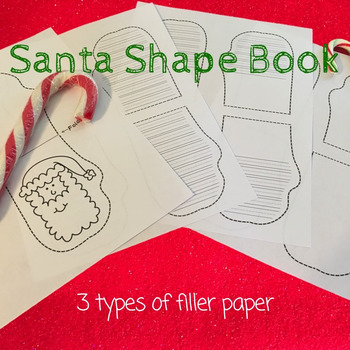 Mini-Book: Santa Mitten Shaped Books