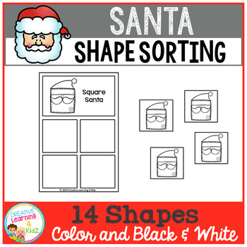 Shape Sorting Mats: Santa Christmas