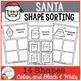 Santa Shape Christmas Sorting Mats