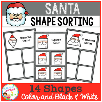 Shape Sorting Mats: Santa Christmas
