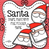 Santa Shape Matching File Folder Game