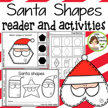 Santa Shapes Emergent Reader and Shape Recognition Activities