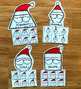 Santa Shapes Sorting Mats
