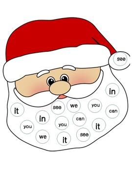 Santa Sight Word Centers/ Word Activity