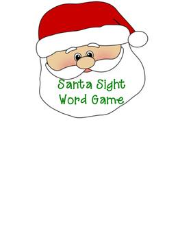 Santa Sight Word File Folder Game