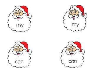 Santa Sight Word Match
