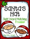 Santa Sight Word Match Freebie