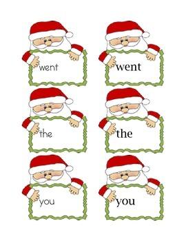 Santa Sight Word Matching Center