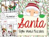 Santa Sight Word Puzzles