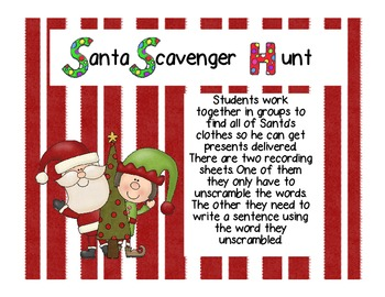 Santa Sight Word Scavenger Hunt