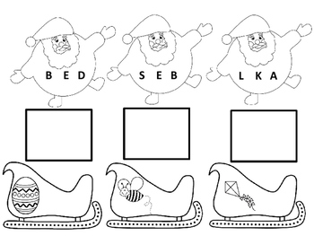 Santa Sleigh Beginning Letter Sounds