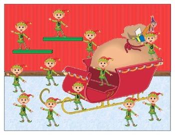 Santa Sleigh Letter Match