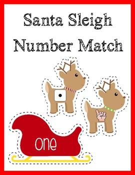 Santa Sleigh Math Center
