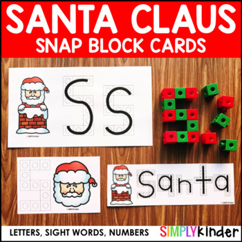 Santa Snap Block Cards Letters Numbers And Sight Words By Simply