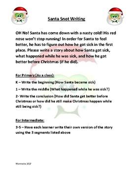 Santa Snot (Slime) Activity