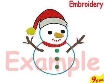 Santa Snowman Embroidery Machine digital 4x4 5x7 hoop Stiches Christmas snow 92b