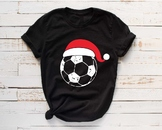 Santa Soccer Hat Christmas svg Elf sweater ball mom tackle merry 1044s