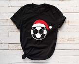 Santa Soccer Hat Christmas svg Elf sweater ball mom tackle merry 1140s