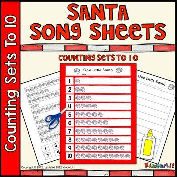 Santa Math - Counting Sets Song Sheet