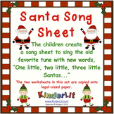 Santa Math - Counting Sets Song Sheet