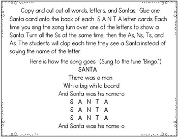 Santa (Song and Pocket Chart Activity)
