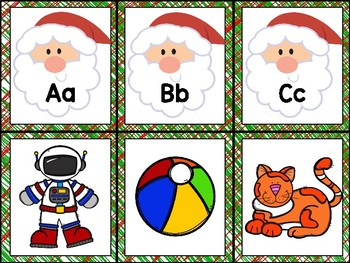 Santa Sounds - Beginning Sound Match