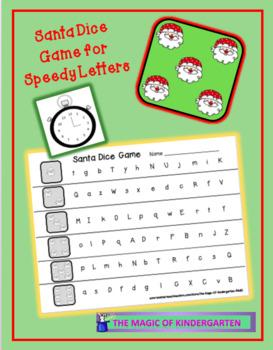 Santa~ Speedy Letters Dice Game