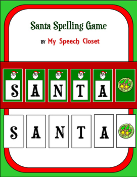 Santa Spelling Speech Therapy Game