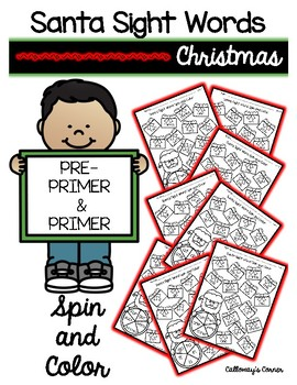Santa Spin and Color SIGHT WORD EDITION