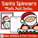 Santa Spinner Christmas Math Fact Center