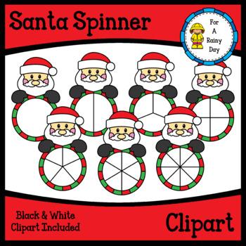 Santa Spinner Clipart