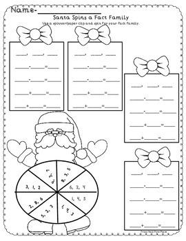 Santa Spins a Fact Family