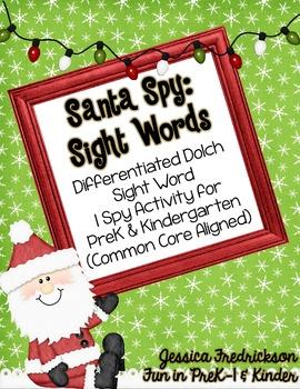 Santa Spy: Sight Words (CC Aligned)
