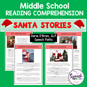 Santa Stories: Reading Comprehension for Middle School