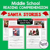 Christmas Reading Comprehension and Passages: Middle School