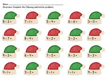 Santa Subtraction Hats