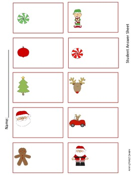 Santa Subtraction Scoot or Center